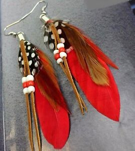 Native Art Earrings made by hand by local Artisan Yellowknife Northwest Territories image 5
