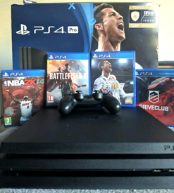 PS4 Pro 1TB 4 Games 1 Controller Playstation 4 Gaming Console