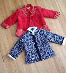 2 Chinese tradional winter jackets for baby girl