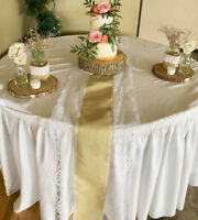 15 Burlap and Lace  Table Runners