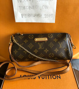 Authentic Louis  Vuitton EVA Clutch Monogram Canvas Cross Body
