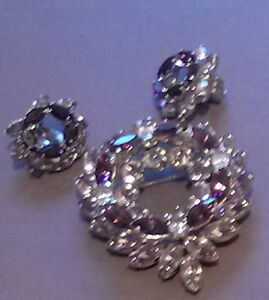 END OF THE MONTH SALE on VINTAGE Sherman BROOCH & EARRINGS SET