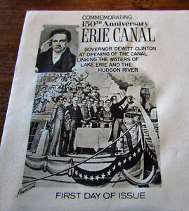 1967 150th Anniversary Erie Canal 5 Cent First Day Cover Kitchener / Waterloo Kitchener Area image 2