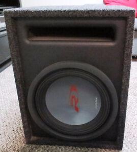 Type R Alpine Sub with Box & Mono Car Amplifier