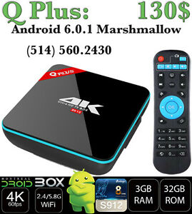 Q Plus ANDROID SMART TV BOX 6.0.1 OCTACORE S912 3GB RAM 32GB ROM