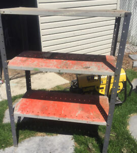 """Metal shelf 51"""" high and 3 ft wide"""