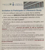 Wanted: Participants for a Research Study-Immigration Detention