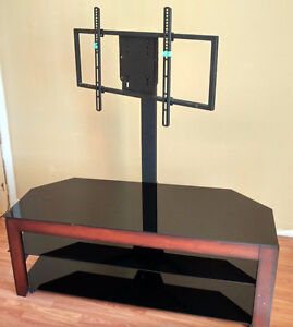 3-Layers TV stand with 3 black glasses, Great Condition -