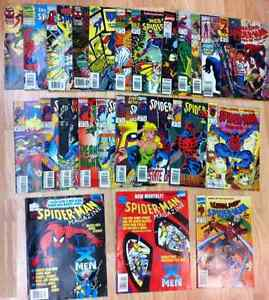 COLLECTION OF 24 VINTAGE MARVEL SPIDERMAN COMICS CHEAP