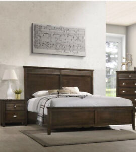 QUEEN BEDFRAME AND SIDE TABLES