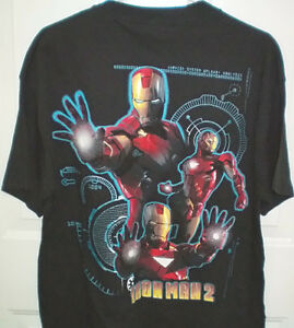 Marvel Comics Iron Man 2 Movie Dr Pepper Mens Large T Shirt