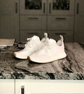 adidas NMD R1 Triple White Gum Sole - Size 9 - 9/10 Condition