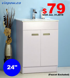 "BATHROOM VANITIES SALE-New Year SAVE $79 for 24"" Vanit"