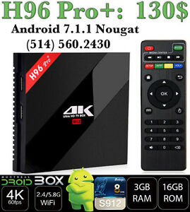 H96 PRO+ ANDROID SMART TV BOX 7.1 OCTACORE S912 3GB RAM 32GB ROM