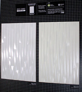 SALE! 8x12  White Ceramic Tiles - Brick Series $2.75sf