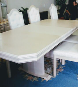Dining Room Table & Cabinet