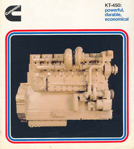 Cummins KT-450 engine brochure