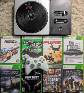 Xbox with Games & Controller