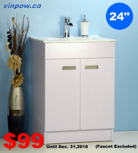 "BATHROOM VANITIES SALE-December SAVE $99 for 24"" Vanity"