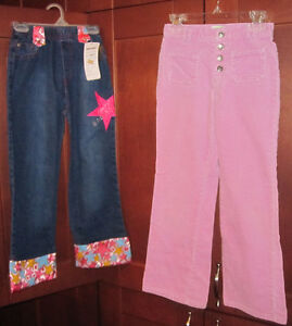 girls size 7 pants set of two