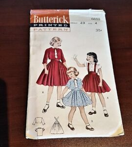 VINTAGE Butterick Sewing Pattern #6659  Girls' Suit with Blouse