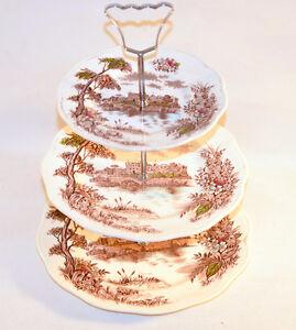 Plat de service pour petit gâteaux cupcake stand British Anchor