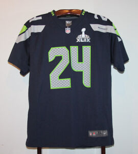 NIKE MARSHAWN LYNCH SEATTLE SEAHAWKS FOOTBALL JERSEY YOUTH XL