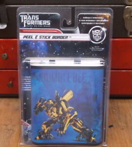 *NEW* Transformers: Dark of The Moon Peel & Stick Border