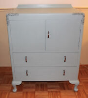 Beautiful Re-painted Updated 1930's Cabinet ~ $150