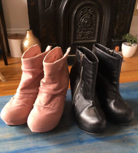 Wedge Booties Size 6