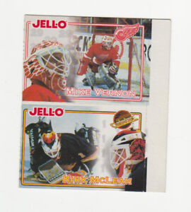 Carte Hockey Kraft 1995-96 Mike Vernon & Kirk McLean (B42)