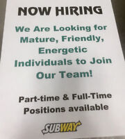 Halifax Shopping Centre Subway Job openings