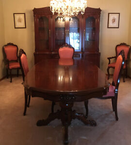 Solid cherrywood dining set