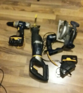 4 piece cordless tool set- 18V-Rona- PLEASE READ