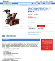 "WINTER IS COMING!!! Craftsman 27"" 305cc Snowblower - Best offer!"