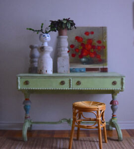 Refinished vintage desk/console table - Delivery available