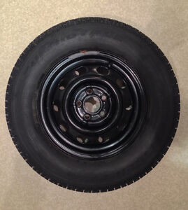 4 Uniroyal Studded Winter Tires With Steel Rims