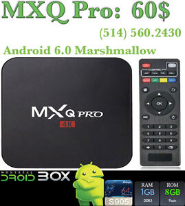 MXQ PRO ANDROID SMART TV BOX 6.0.1 QUADCORE S905X 1GB RAM 8GBROM