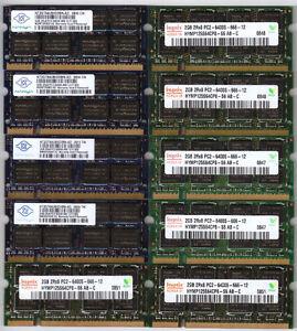 2GB DDR2 667/800MHz SODIMM RAM Laptop Memory Mini Mac- Barrettes
