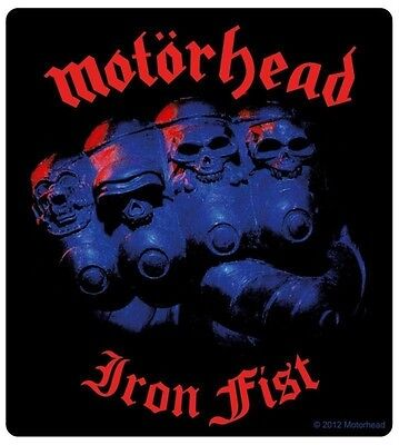 Sticker Motorhead Iron Fist Album Cover Art English Rock Metal Music Band Decal