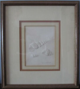 Two Sea Shell Nautical Framed Pictures