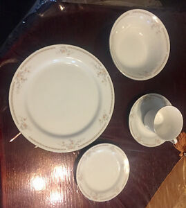 12 piece plate setting Garden Bouquet fine china