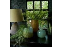abigail ahern blue lowell vase bottle for faux flowers new n