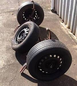 Trailer Axle with Springs and Wheels + Spare Redcliffe Redcliffe Area Preview