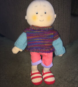 Caillou Little Boy 14 Inch Plush Doll Stuffed Cute Baby Poseable