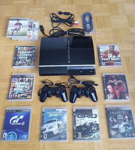 PS3 - All cables and 11 Games