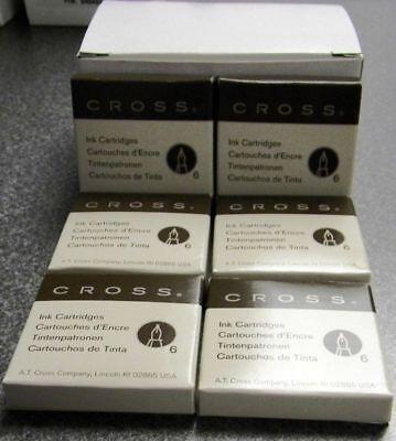 6 doz Cross original black fountain pen refills 8921