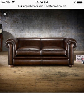 2 and 3 seater leather couch set