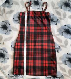 A checked dress