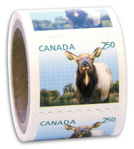Coils of $2.50 Canadian Postage Stamps - Brand New